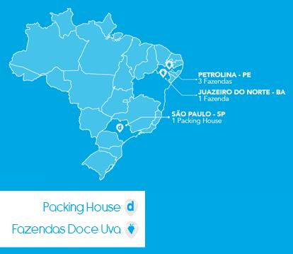 Onde a Doce Uva está no Brasil